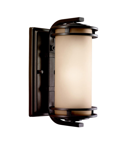 Kichler Lighting Hendrik 1 Light Outdoor Wall Lantern in Textured Architectural Bronze 9100AZT