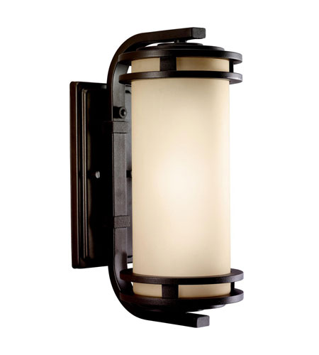Kichler Lighting Hendrik 1 Light Outdoor Wall Lantern in Textured Architectural Bronze 9101AZT