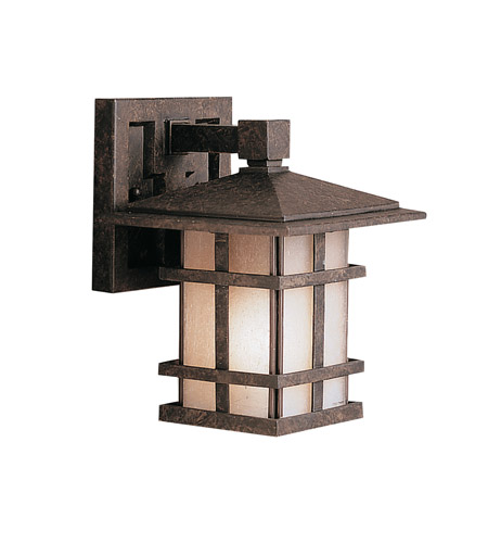 Kichler Lighting Cross Creek 1 Light Outdoor Wall Lantern in Aged Bronze 9128AGZ