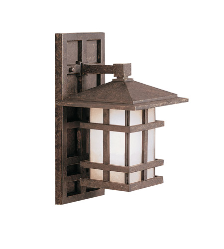 Kichler Lighting Cross Creek 1 Light Outdoor Wall Lantern in Aged Bronze 9129AGZ