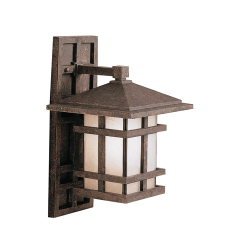 Kichler Lighting Cross Creek 1 Light Outdoor Wall Lantern in Aged Bronze 9130AGZ