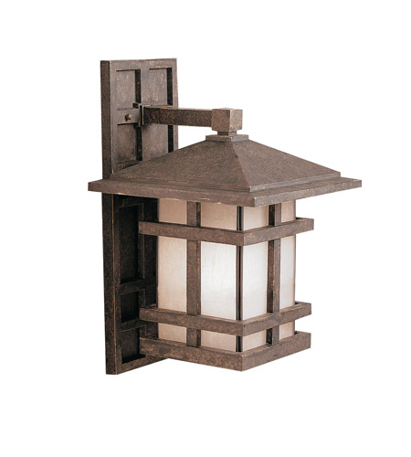 Kichler Lighting Cross Creek 1 Light Outdoor Wall Lantern in Aged Bronze 9131AGZ photo