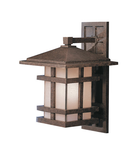 Kichler Lighting Cross Creek 1 Light Outdoor Wall Lantern in Aged Bronze 9132AGZ