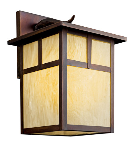 Kichler Lighting Alameda 1 Light Fluorescent Outdoor Wall Lantern in Canyon View 9150CVFL