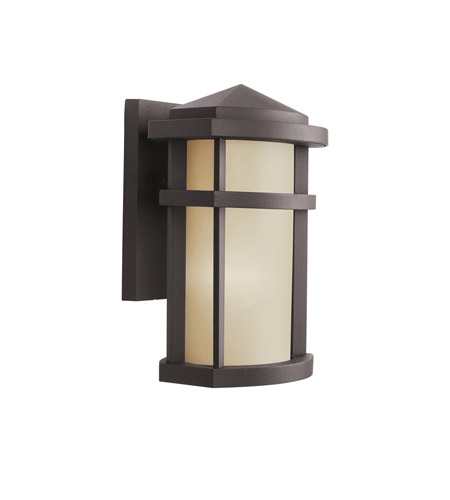 Kichler Lighting Lantana 1 Light Outdoor Wall Lantern in Architectural Bronze 9166AZ