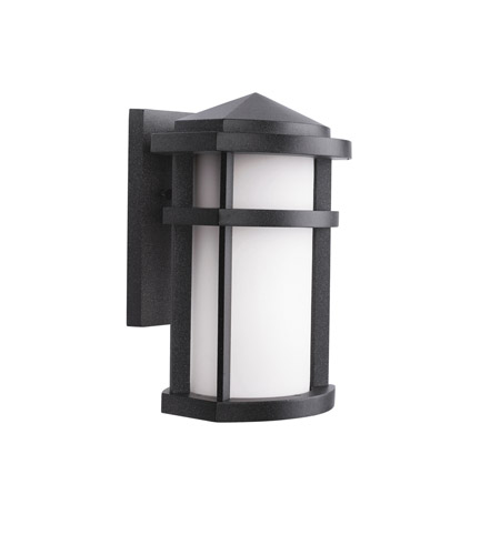 Kichler Lighting Lantana 1 Light Outdoor Wall Lantern in Textured Granite 9166GNT