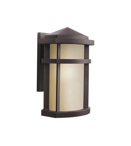 Kichler 9167AZ Lantana 1 Light 13 inch Architectural Bronze Outdoor Wall Lantern in Light Umber photo
