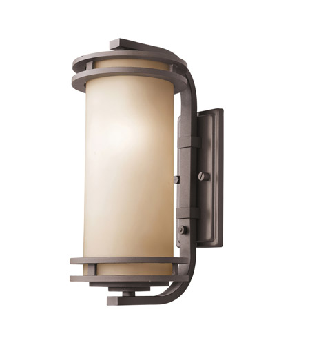 Kichler Lighting Hendrik 1 Light Outdoor Wall Lantern in Textured Architectural Bronze 9203AZT