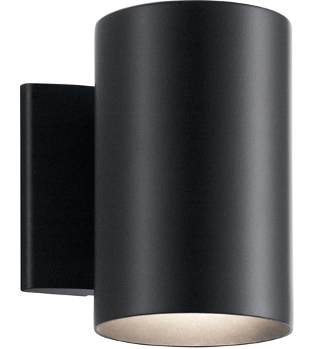 Kichler 9234BK Signature 1 Light 7 inch Black Outdoor Wall Light, Small photo