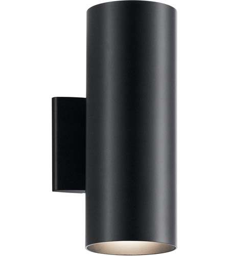 Kichler 9244BK Signature 2 Light 12 inch Black Outdoor Wall Light, Small photo