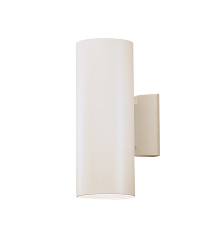 Kichler 9244WH Signature 2 Light 12 inch White Outdoor Wall Light photo