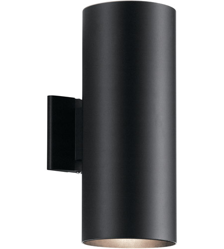 Kichler 9246BK Signature 2 Light 15 inch Black Outdoor Wall Light, Medium photo