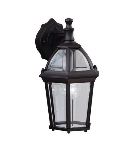 Kichler Lighting Trenton 1 Light Outdoor Wall Lantern in Black (Painted) 9250BK
