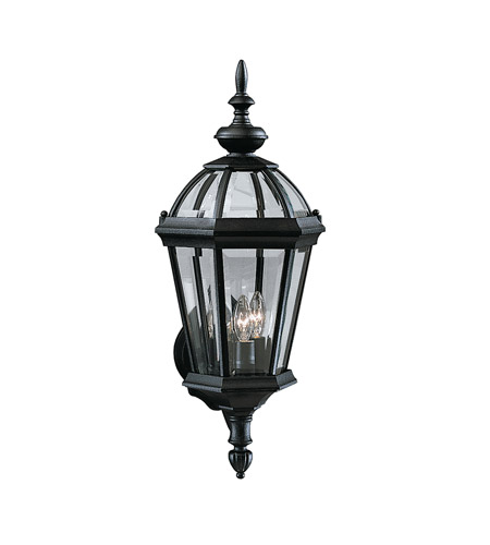 Kichler Lighting Trenton 3 Light Outdoor Wall Lantern in Black 9251BK photo