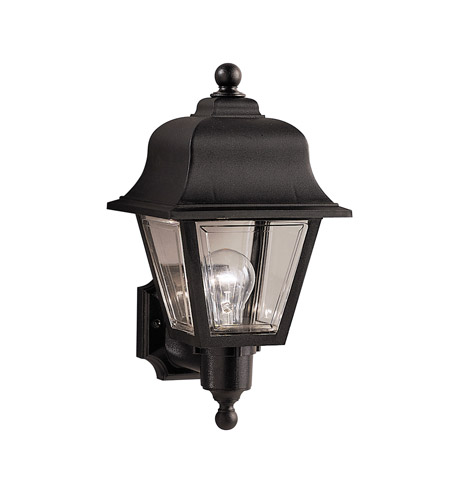 Kichler Lighting Outdoor Plastic Fixtures 1 Light Outdoor Wall Lantern in Black Material 9302BK