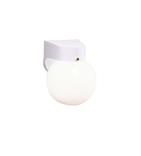 Kichler Lighting Outdoor Plastic Fixtures 1 Light Outdoor Wall Lantern in White 9312WH