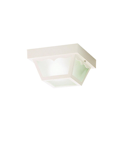 Kichler Lighting Outdoor Plastic Fixtures 1 Light Outdoor Flush Mount in White 9320WH