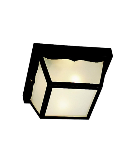 Kichler Lighting Outdoor Plastic Fixtures 2 Light Outdoor Flush Mount in Black Material 9322BK
