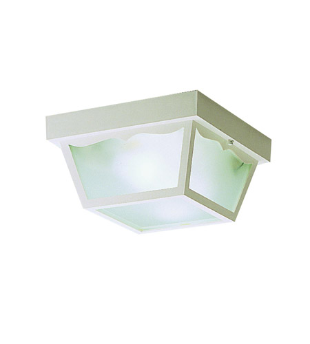 Kichler Lighting Outdoor Plastic Fixtures 2 Light Outdoor Flush Mount in White 9322WH