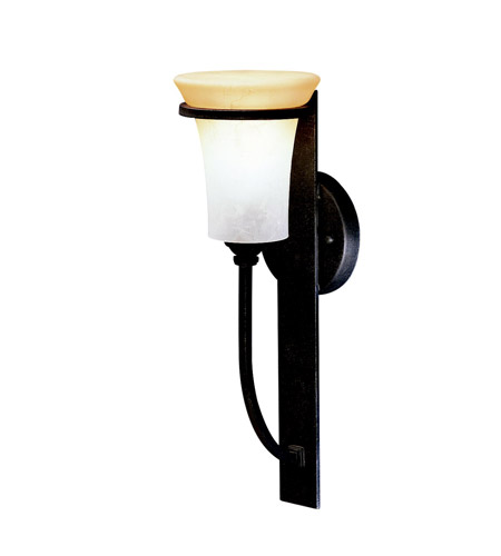 Kichler Lighting Meredith 1 Light Outdoor Wall Lantern in Distressed Black 9334DBK