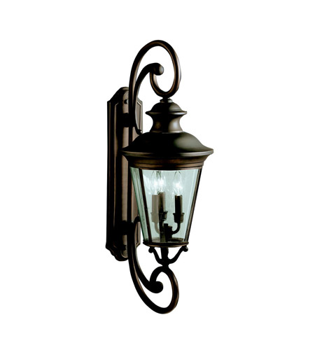 Kichler Lighting Eau Claire 3 Light Outdoor Wall Lantern in Olde Bronze 9348OZ photo