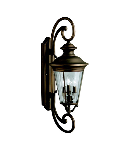 Kichler Lighting Eau Claire 4 Light Outdoor Wall Lantern in Olde Bronze 9349OZ