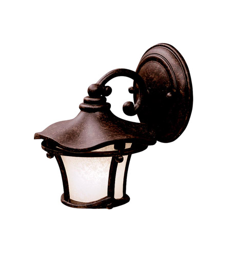 Kichler Lighting Cotswold 1 Light Outdoor Wall Lantern in Aged Bronze 9351AGZ