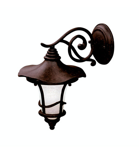 Kichler Lighting Cotswold 1 Light Outdoor Wall Lantern in Aged Bronze 9352AGZ