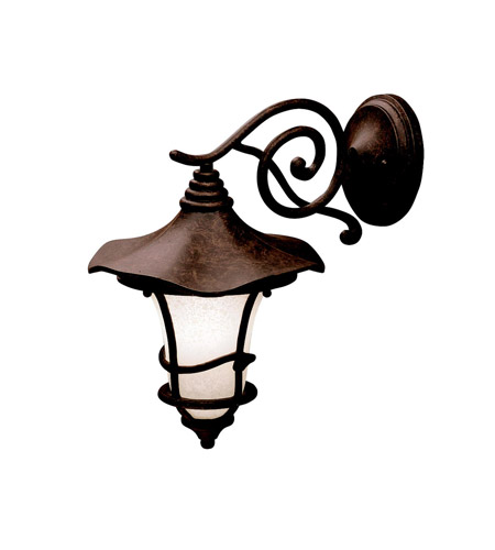 Kichler Lighting Cotswold 1 Light Outdoor Wall Lantern in Aged Bronze 9353AGZ photo