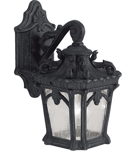 Kichler Lighting Tournai 1 Light Small Outdoor Wall Lantern in Textured Black 9355BKT