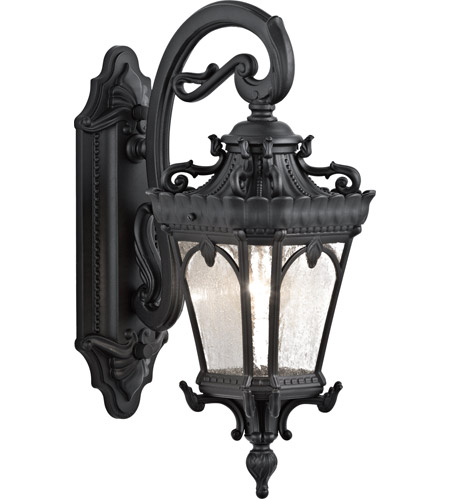Kichler Lighting Tournai 1 Light Medium Outdoor Wall Lantern in Textured Black 9356BKT