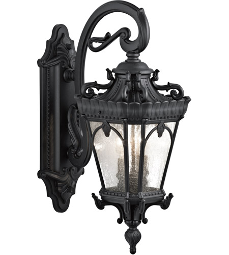 Kichler 9357BKT Tournai 2 Light 24 inch Textured Black Outdoor Wall Lantern photo