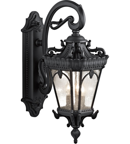 Kichler Lighting Tournai 3 Light XLarge Outdoor Wall Lantern in Textured Black 9358BKT photo