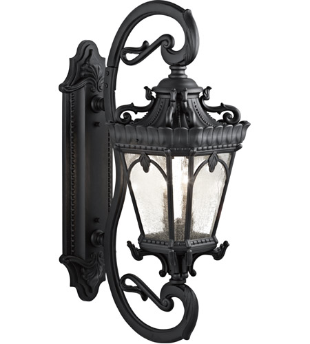 Kichler 9359BKT Tournai 4 Light 38 inch Textured Black Outdoor Wall Lantern photo