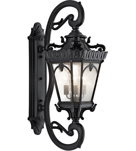 Kichler Lighting Tournai 4 Light XLarge Outdoor Wall Lantern in Textured Black 9360BKT