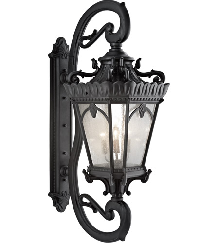 Kichler 9362BKT Tournai 5 Light 70 inch Textured Black Outdoor Wall Lantern photo