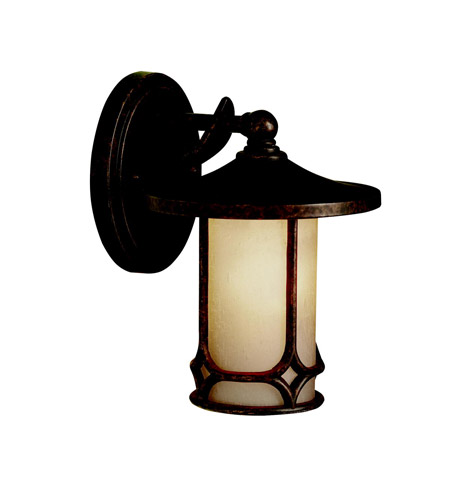 Kichler Lighting Chicago 1 Light Outdoor Wall Lantern in Aged Bronze 9364AGZ