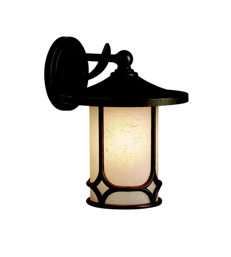 Kichler Lighting Chicago 1 Light Outdoor Wall Lantern in Aged Bronze 9366AGZ photo