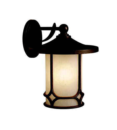 Kichler Lighting Chicago 1 Light Outdoor Wall Lantern in Aged Bronze 9367AGZ