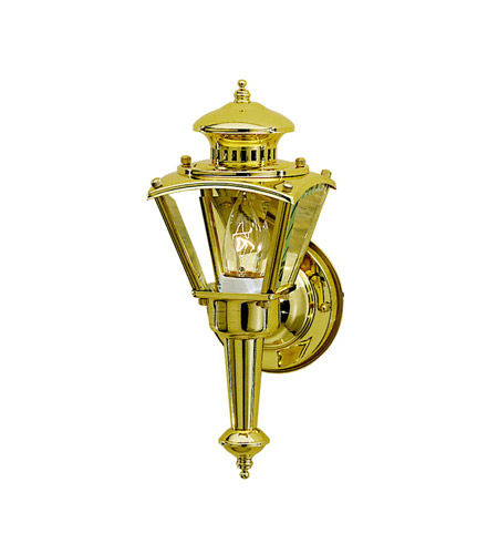 Kichler Lighting Signature 1 Light Outdoor Wall Lantern in Polished Brass 9401PB
