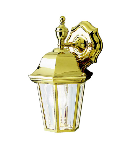Kichler 9409PB Grove Mill 1 Light 12 inch Polished Brass Outdoor Wall Lantern photo