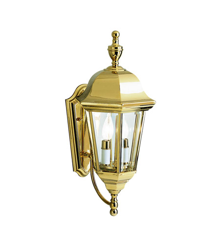 Kichler Lighting Grove Mill 2 Light Outdoor Wall Lantern in Polished Brass 9439PB photo