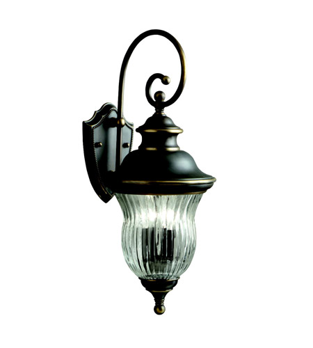 Kichler 9452OZ Sausalito 3 Light 24 inch Olde Bronze Outdoor Wall Lantern photo