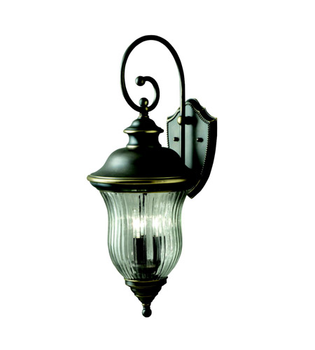 Kichler 9492OZ Sausalito 3 Light 28 inch Olde Bronze Outdoor Wall Lantern photo