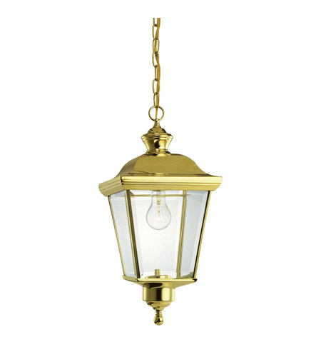 Kichler Lighting Bay Shore 1 Light Outdoor Pendant in Polished Brass 9513PB photo