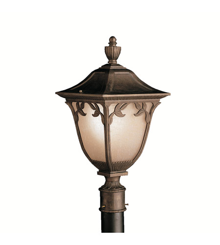 Kichler Lighting Lynnewood Gardens 1 Light Outdoor Post Lantern in Legacy Bronze 9514LZ photo