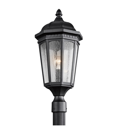 Kichler Lighting Courtyard 1 Light Post Lantern in Textured Black 9532BKT photo