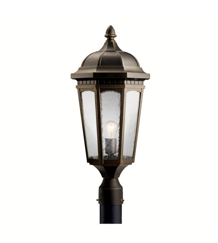 Kichler Lighting Courtyard 1 Light Outdoor Post Lantern in Rubbed Bronze 9532RZ photo