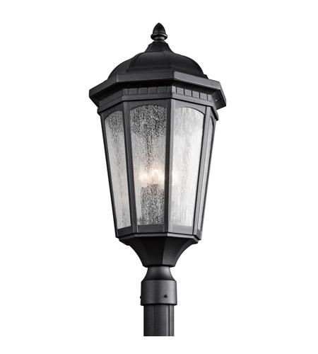 Kichler Lighting Courtyard 3 Light Post Lantern in Textured Black 9533BKT