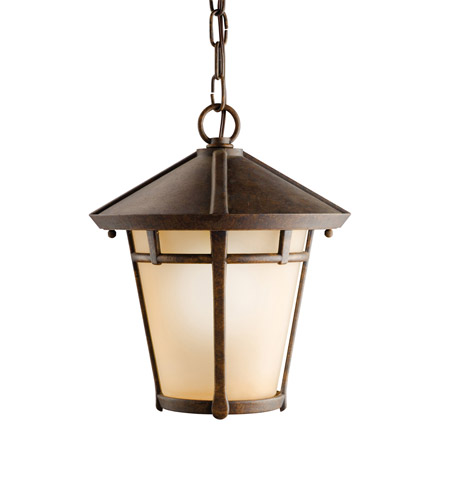 Kichler Lighting Melbern 1 Light Outdoor Pendant in Aged Bronze 9554AGZ